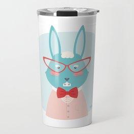 Fancy Rabbit Travel Mug