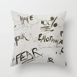 Fear is Fake Throw Pillow
