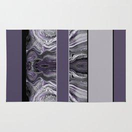 Marbled Smoky Plum Stripes Rug