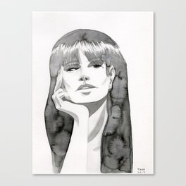 Watercolor Girl V Canvas Print