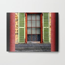 Window Shutters Metal Print