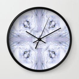 White Tiger Pattern Wall Clock
