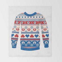 Cozy sweater Throw Blanket