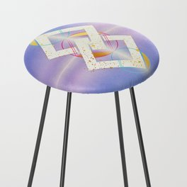 Linked Lilac Diamonds :: Floating Geometry Counter Stool