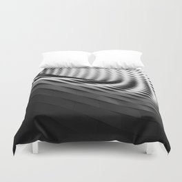 architecture black white Duvet Cover