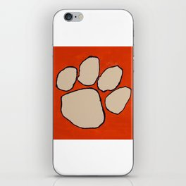 Customized Clemson Painting iPhone Skin