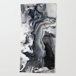 Marble B/W/G Beach Towel