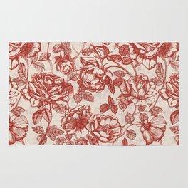 Toile de jouy (Roses) Rug