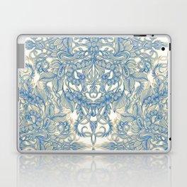 Blue & Tan Art Nouveau Pattern Laptop & iPad Skin