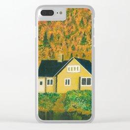 Maison jaune Clear iPhone Case