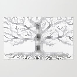 Pixel Art - Cross Stitch Chart - Grey Tree of Life - Rug