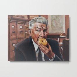 Gordon Cole eats a Donut - David Lynch Twin Peaks Painting Metal Print