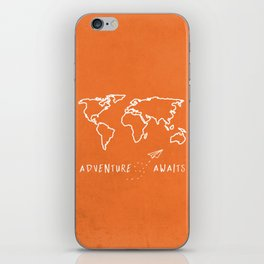 Adventure Map - Retro Orange iPhone Skin