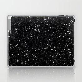 Glitter Stars2 - Silver Black Laptop & iPad Skin