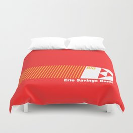 Erie Savings Bank (White) Duvet Cover