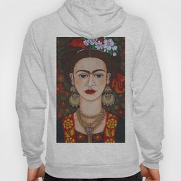 Frida Kahlo with butterflies Hoody