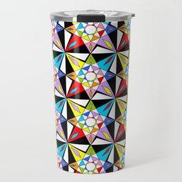 symetric patterns 81-mandala,geometric,rosace,harmony,star,symmetry Travel Mug