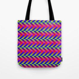 Zig Zag Folding Tote Bag