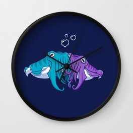 Cuddlefish Wall Clock