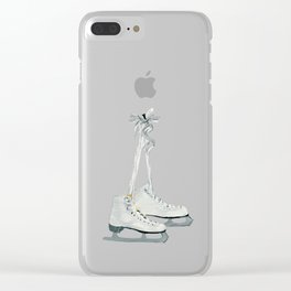 Figure skates Clear iPhone Case