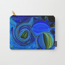 Abstract Blue with a Golden Glow Carry-All Pouch