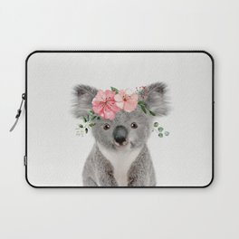 Baby Koala with Flower Crown Laptop Sleeve