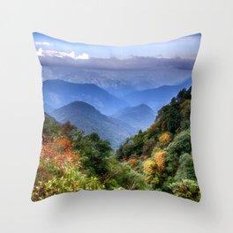 The Himalayas of Bhutan Throw Pillow