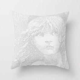 Victor Hugo's WATERLOO ramblings (Les Miserables) Throw Pillow