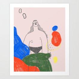 Lima beans 1 Art Print