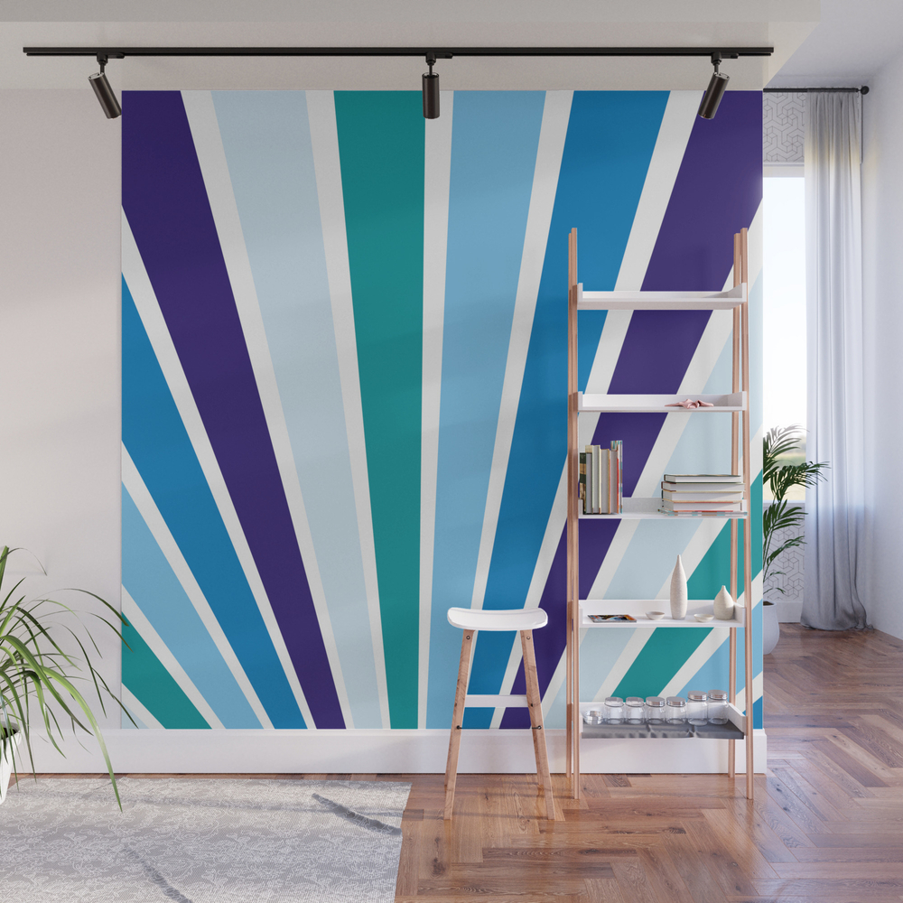 Blue Rays Wall Mural by Artiseverything WMP7870746