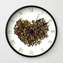 Dry curled leaves of Oolong tea Wall Clock