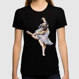 Pug Ballerina in Dog Ballet | Swan Lake  T-shirt