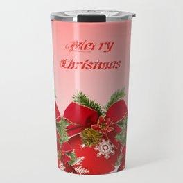 Merry Christmas - Red Travel Mug