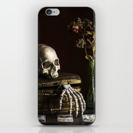 Vanitas, Memento Mori, Macabre Halloween Photo iPhone Skin