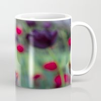 tulips Mugs featuring Tulips by AlejandraClick