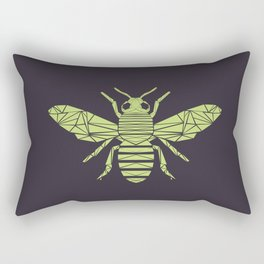 The Bee is not envious - Geometric insect design Rectangular Pillow