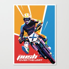 Motocross - Push Over The Limit #2 Canvas Print