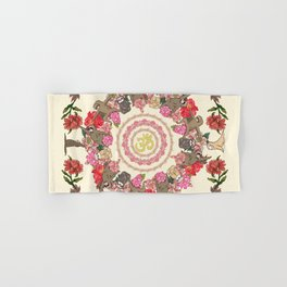 Sloth Yoga Floral Medallion Hand & Bath Towel