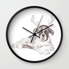 Boxer Puppy First Xmas Wall Clock