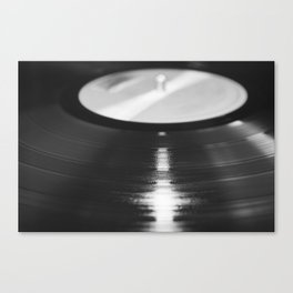 Record (Black and White) Canvas Print