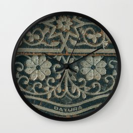 Embroidered Wall Clock