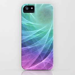 Whirlpool Diamond Computer Art iPhone Case