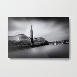 London City and The Shard.  Metal Print