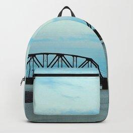 Train Bridge at Dusk Backpack