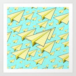 Paper Airplane 10 Art Print