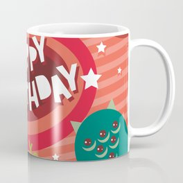 Happy birthday Funny monsters card Coffee Mug