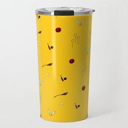 Quidditch Pattern - Hufflepuff Travel Mug