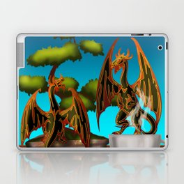 Hot Coffee with Bonsai and Fire Dragons Laptop & iPad Skin