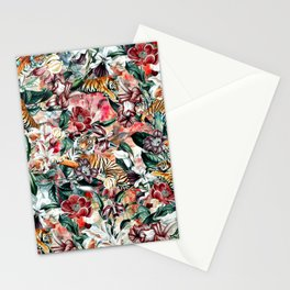 Tigers and Flowers II Stationery Cards