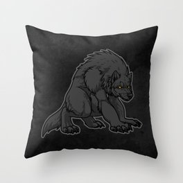 Crouching Werewolf Throw Pillow